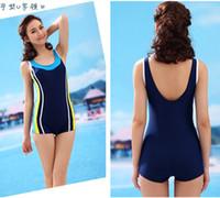 6f28909f9b Satın Al Yeni Varış Boyleg Yüzme Suit Kadınlar Için Spor Mayo Tek ...