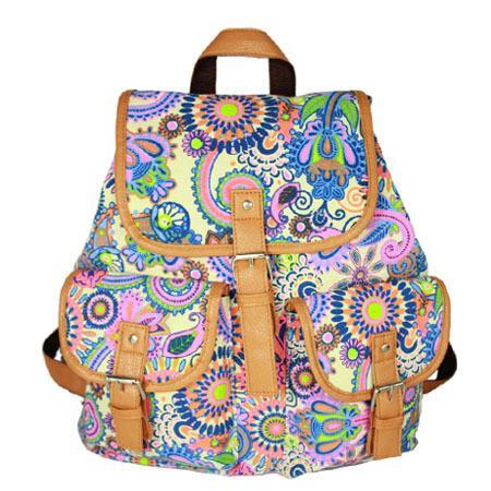 Lady Ethnic Style Bookbag Travel Rucksack School Backpacks Satchel Canvas Back Pack Teenager Girls  Back Pack on Sale