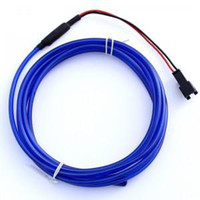 Wholesale El Neon Meter - 6.6Ft (2 meter) Long Blue Neon wire( EL Wire,electrolumines wire) Soft and flexible - dia.:3.2mm