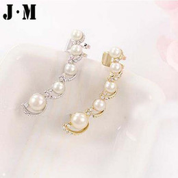 Wholesale Ear Cuffs For Sale - Wholesale-One PCS for sale 2015 Newest High quality pearl ear cuff exquisite piercing clip fine jewelry for women ear cuff wrap earring