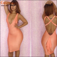 Wholesale Dropshipping Evening Dress - 2015 Cheap Brand New Sexy Women Bodycon Dress Evening Party Bandge Casual Dress Accept Dropshipping