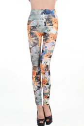 Leggings Cross-print Pas Cher-Chaud! 2015 Nouveau Leggings Pour Femmes Galaxy Cross Cats Imprimé Seamless Leggings Cats Mince Sexy Supernova Vente Pantalons Mode