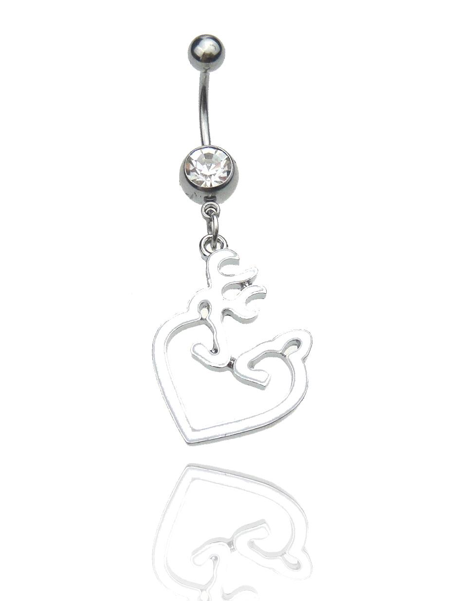 Anello per ombelico 316L 4 Pz in acciaio inossidabile Browning Deer Navel Anelli Deer Heart Browning Style