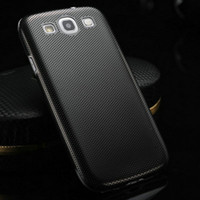 Wholesale Thin Metal Galaxy S3 - Wholesale-0.3MM Thin Luxury Brushed Aluminum Steel Hard Case for samsung Galaxy S3 SIII Mesh Metal Back Cover for Galaxy I9300