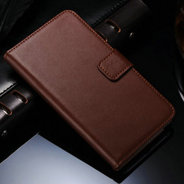 Wholesale Note Ii Cases Clip - Wholesale-Genuine Leather Wallet Stand Case for Samsung Galaxy Note 2 II N7100 Phone Bag with Card Holder Flip Style Drop SHIp