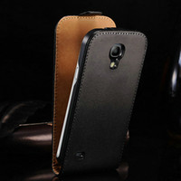 Wholesale S4 Mini Book - Wholesale-Luxury Genuine Real Leather Case For Samsung Galaxy S4 Mini i9190 Flip Book Cover with Card Slot and Stand Design , 2 styles