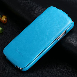 Wholesale S4 Flip Case Logo - Wholesale-Luxury Retro Style PU Crazy Horse cover For Samsung Galaxy S4 i9500 Flip Leather Case Open Up And Down with Fashion LOGO