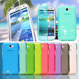 Wholesale Note Ii Cases Clip - Wholesale-Dirt shock Proof High Quaility Clear Transparent Protective Soft TPU Gel Flip Case Cover for Samsung Galaxy Note 2 II N7100