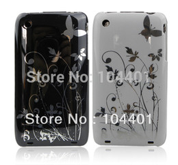 Wholesale Hard Cover For Iphone 3g - Wholesale-1pc New Butterfly Flower Hard Plastic Cover Case for iPhone 3G 3GS free shipipng ( Hong Kong Air Mail)