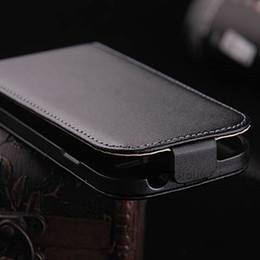 Wholesale Elegant Case S3 - Wholesale-Luxury Genuine Real leather Case for Galaxy S3 Mini i8190 Retro Accessories Elegant Vintage Flip Cover for Samsung S3 Mini