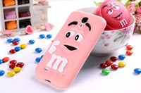 Wholesale Silicon Bean Case - Wholesale-Hot item M&M Chocolate Case Rainbow Bean Phone Defender Silicon Back Cover for Samsung Galaxy S4 i9500