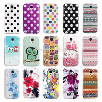 Wholesale Polka Dot Galaxy S4 - Wholesale-Cool IMD TPU Silicone Phone Bags for Samsung GALAXY S4 Case Cover Indian Style Polka Dots Owl Butterfly S Line Design i9500