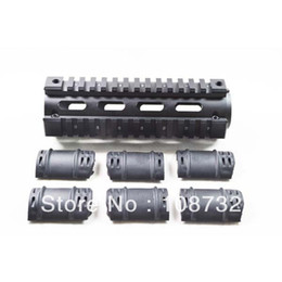 Wholesale Picatinny M4 - ALUMINUM AR AR15 AR-15 M4 Rifle Carbine Length Weaver Picatinny Quad Rail Handguard with 12 Rubber Covers
