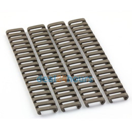 "Wholesale Covers Rails - 4 Piece Set,18 slot Ladder Rail Cover Quad Handguard W  Picatinny Dark Earth 7"" New Free Shipping!"