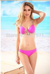 Wholesale High Quality Bikinis - 2015 Free Shipping New Fashion Sexy Swimwears High Quality Brand Bikinis Model Cup Women Swimsuits Ladies Beachwears