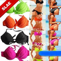 Wholesale High Quality Bikinis - 2015 Free Shipping Solid New Hot Fashion Bikini High Quality Brand Swimwear In Model Cup Women Swimsuit Ladies Sexy Beachwear