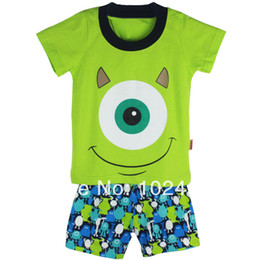 Wholesale G Wholesale Kids Clothing - 2015 New Summer Children's wear Baby short sleeve pajamas suit,Kids pyjamas girls boys baby sleepwear clothing,6sets lot G-3233