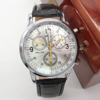 Wholesale Business Meeting Gifts - Fashion & casual high quality men's Leather watches Business meeting watches Dress Wristwatches Luxury brands Christmas gift