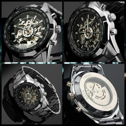 Wholesale Wound Up - Winner Brand Fashion Clock Men's Automatic Self Wind Mechanical Watch Stainless Steel Business Style Wristwatches reloges reloj
