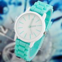 Wholesale Date Fashion Summer Dress - Summer Style Fashion Classic Geneva Watches Women Silicone Quartz Watch Jelly Women Dress Watch Relogio Feminino