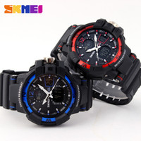 Wholesale Russian Automatic Mechanical Watches - Skmei S Shock askeri saatler Quartz Relogio Military Digtal Masculino Russian Army Watch Men Sports Militar Infantry Waterproof