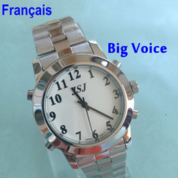 Wholesale Watches For Blind - French Talking Watch For Blind Or Low Vison People With Alarm Function For The Elderly Speaking Quartz Watch Big Voice