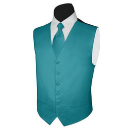 Discount satin black mens suits New Classic fashion Teal Satin Vests Wool Herringbone British style Mens Waistcoat Blazer wedding suits for men P:9