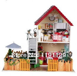 Wholesale Dream Puzzles - Doll house 3D puzzle Diy birthday gifts handmade wood dream house