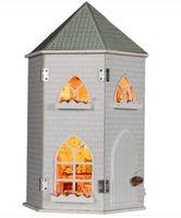 Wholesale Diy Wood Dollhouse Kits - DIY wood dollhouse miniatures furniture riptide modelism 3D wooden puzzles building assembling kit toy gift for children  kids
