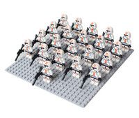 Wholesale Clone Trooper Figures Wholesale - 21pcs lot red clone trooper figure compatible with Building Block doll, Brick accessory WOMA Sluban
