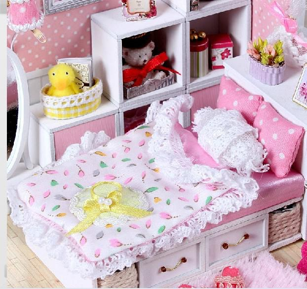 cheap dolls house furniture sets. Diy 3d Wooden Doll House Dollhouse Miniature Furniture Set The Angel\u0027S Dream With Dust Cover And Lamp Games Building Blocks For Baby From Cheap Dolls Sets E
