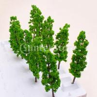 Wholesale Plastic Trees Model - Free Shipping Model Pine Tree Train Set Scenery Landscape OO HO - 10PCS
