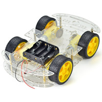Wholesale Wheeled Robot Platform - HOT For DIY 4-wheel Robot Smart Car Chassis Kits car with Speed Encoder For 4WD Mobile Platform RC Car Free Shipping