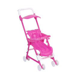 Wholesale Wholesale Kelly Dolls New - New 2015 Brand New Furniture Baby Carriage Stroller Trolley for Kelly Doll Free Shipping