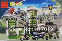 Wholesale Headquarters Police - Free Shipping Enlighten 110 400+pcs new hot large Building Block sets eductional blocks kids Christmas gift police headquarters