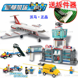 Wholesale Toys For Woma - WOMA J5668 791 pcs Planes Airport Helicopter Building Block Sets Educational Toys Christmas gift for kids