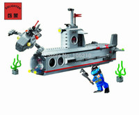 Wholesale Enlighten Submarine - No.816 Submarine Enlighten Building Block Set,3D Construction Brick Toys, Educational Block toy Children without original box