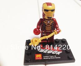 Wholesale Super Heros Action Figures Set - 78020 new design LARGE Hulk man + Iron man minifigures 3D building block sets toys children's super heros action figures
