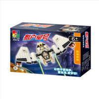 Wholesale Toys For Woma - WOMA J5678 Spaceship 80 pcs Building Block Sets DIY toys Construction Bricks Educational Toys Christmas gift for kids