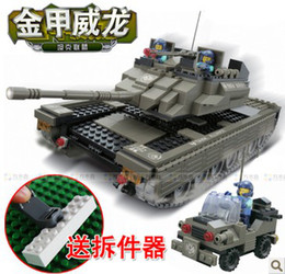 Wholesale Toys For Woma - WOMA J5664 Tank and Armoured Car Plastic Building Block Sets 581pcs Educational DIY Bricks Toys for children