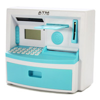 Wholesale Atm Piggy Banks - free shipping Like mini smart atm piggy bank colored drawing ultralarge password piggy bank toy