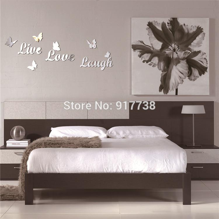 U0027Live Love Laughu0027 Letter Mirrors,3d Butterfly Wall Decor,Mirror Wall  Stickers,Unique Gift For Kids White Mirror Large White Mirrors From  Rosaling, ... Part 71