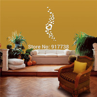 Cheap 30pcs Heart Shape Wall Mirror Stickers Decorative Mirrors Removeable Romantic Living Room Home