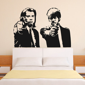 Wholesale Banksy Jules and Vincent Pulp Fiction Vinyl Wall Decal Wall Sticker Mural Wallpaper Wall Art Home Decoration