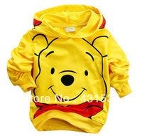 Wholesale Wholesale Childrens Outfits - bear childrens clothing KT cat boy's girl's top shirts Hooded Sweater hoodie whole suits outfits 00056