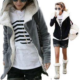 womens cardigan jackets 2019 - Winter New Womens Sweatershirts hoodies Fleece Long Sleeve Coat Hooded Jacket Outwear Tops Coats women Cardigans cheap w