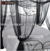 Wholesale Four Corner Point Bug Insect Mosquito Net Large Bed Canopy size cm Wx cm Lx cmH color black