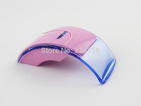 Wholesale Mini Pink Computer Mouse - Wholesale-Retail Mini USB 2.4Ghz Transceiver Optical Foldable Folding Arc Wireless Mouse for PC Laptop Computer and Mice Free Shipping