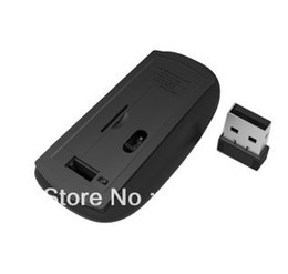 Wholesale Dropshipping Wireless Mouse - Wholesale-2pcs wireless mouse and mice 2.4G receiver super slim mouse 100% brand new and Top quality Dropshipping Freeshipping