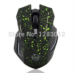 Wholesale Mouse Wifi 3d - Wholesale- 6Keys USB Wireless Gaming Mouse Optical Computer Game Mouse 2.4G WIFI Wireless Mouse For Gamer